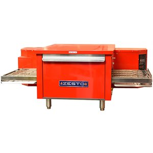 "ZESTO CE2418 RED CONVEYOR PIZZA BAKE OVEN ELECTRIC 48""X33.5"""