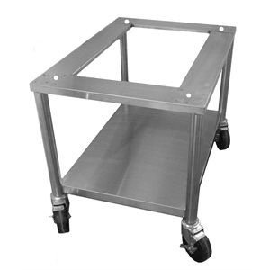 "STAND 24""H STAINL. STEEL W / LOCKING CASTERS 2416-2418"